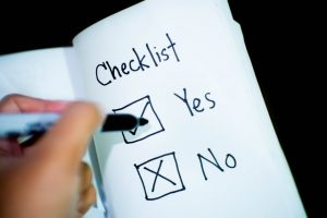checklist for musicians