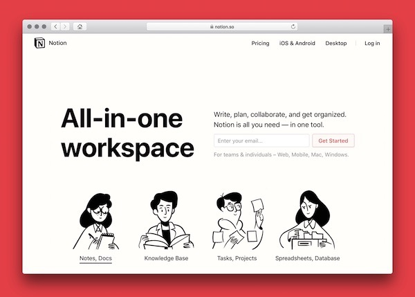 Notion the all in one workspace for productivity
