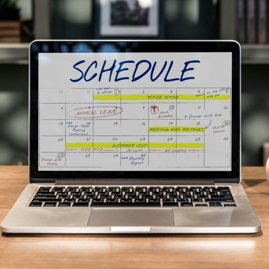 work smarter by planning your calendar