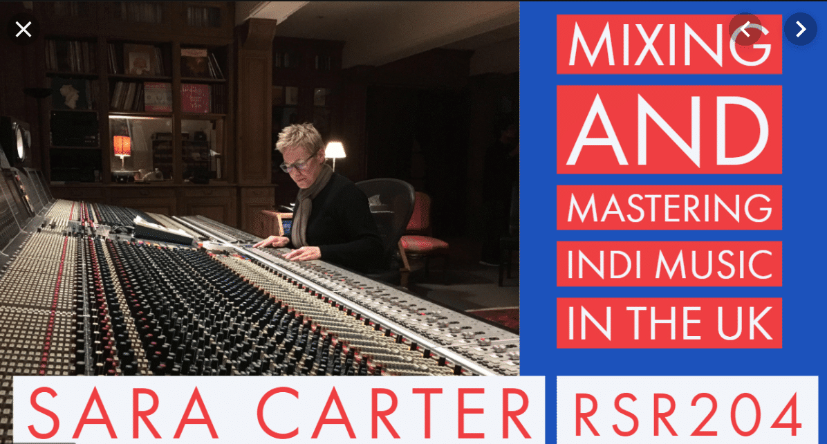 sara carter mixing music on the recording studio rockstars podcast