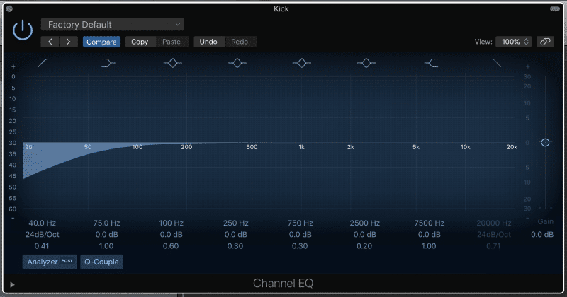 mixing low end with eq high pass filters